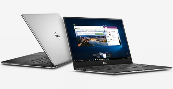 Dell XPS 13 - Best Laptop for Home Use Front and Back View