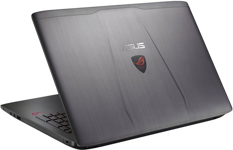 Asus RoG GL552VW Back Shot - Best Laptop for DJing