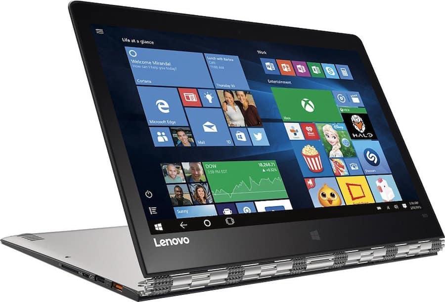 Lenovo Yoga 2-in-1 Tablet Mode - Best Laptop for Travel