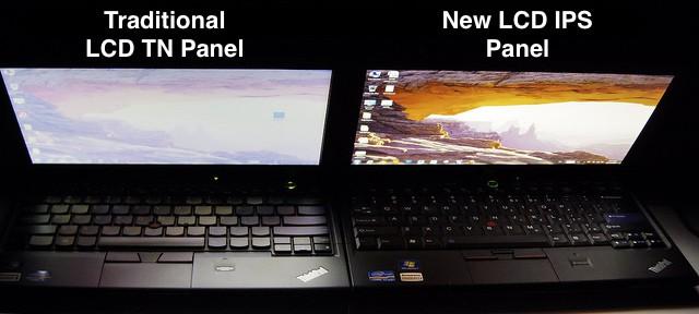 TN v IPS Panel Comparison Photo