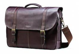 Samsonite Leather Laptop Messenger Bag